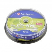 Диск CD-RW 700MB Verbatim box 10