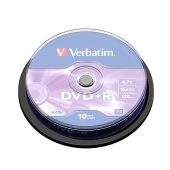 Диск DVD+R 4.7GB Verbatim box 10